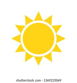 Sun icon on background for graphic and web design. Simple vector sign. Internet concept symbol for website button or mobile app