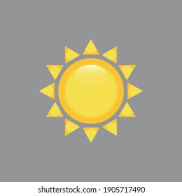 Sun icon on gray background