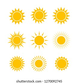 Sun icon set,vector illustration
