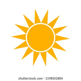 Sun icon simple flat illustration
