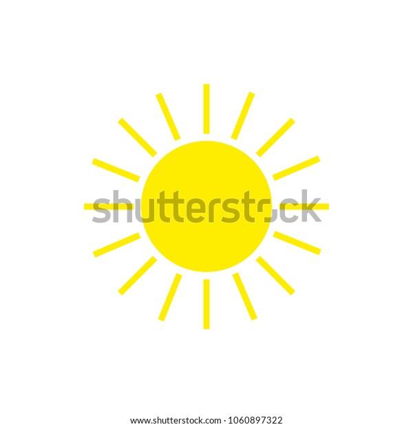 Sun icon simple flat illustration white background. eps 10