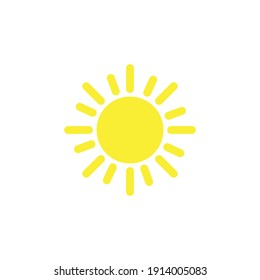 The sun icon. Simple flat vector illustration on a white background.