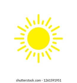 Sun icon ,summer icon trendy vector template