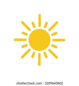 Sun icon symbol vector