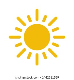 sun icon symbol vector design logo illustration