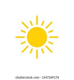 sun icon symbol vector design logo flat illustration