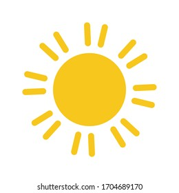 sun icon symbol vector design logo illustration isolated on white background