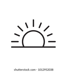 sun icon in trendy flat style isolated on background. sun icon page symbol for your web site design sun icon logo, app, UI. sun icon Vector illustration, EPS10.