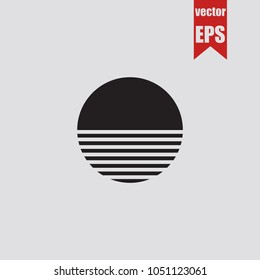 sun icon in trendy isolated on grey background.Vector illustration.