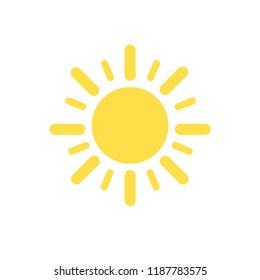 Sun icon. Trendy vector summer symbol