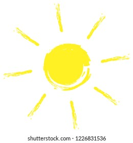 Sun icon. Trendy vector summer symbol for website design