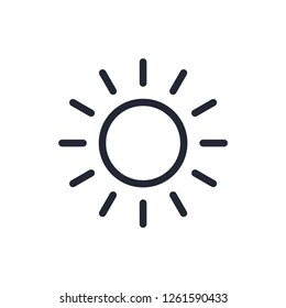 Sun icon vector flat style,summer style