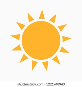 Sun icon. Vector illustration, flat element for design.