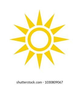 Sun icon vector illustration. Sun line vector icon