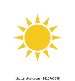 sun icon vector illustration logo template