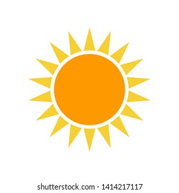 Sun Icon Vector Illustration on white background