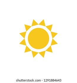Sun icon vector. Sun line vector icon