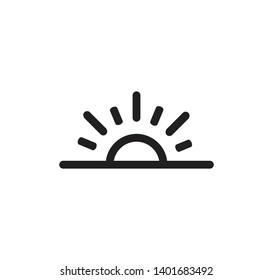 Sun icon vector logo flat style