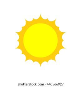 Sun icon. vector logo. flat style.