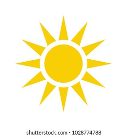 sun icon vector. sun symbol. Sun line vector icon