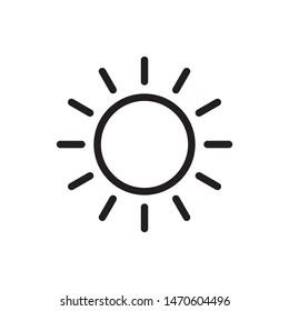 sun icon vector symbol template