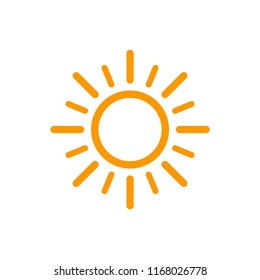 sun icon vector, weather design logo illustration isolated, weather sun forecast icon