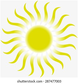 Sun illustration. Vector background.