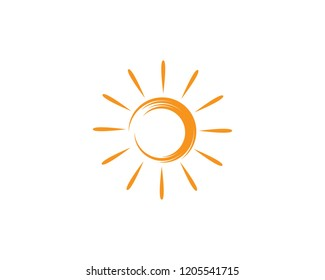 sun ilustration logo vector icon template