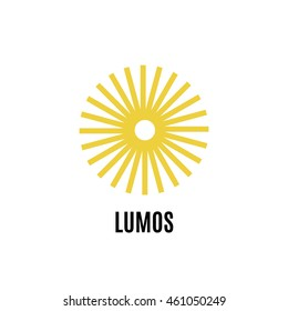 Sun line art logo. Sun vector design template. Solar energy company sign. Alternative energy logo.