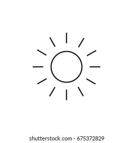 Sun line icon. Line icons with flat design elements on white background. Symbol for your web site design, logo, app, UI. Vector illustration, EPS