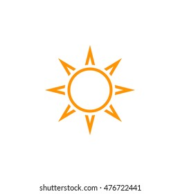 Sun line icon, outline vector logo illustration, linear pictogram isolated on white