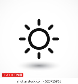 sun line vector icon