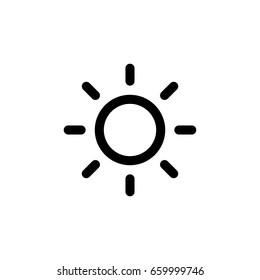 sun line - Vector icon