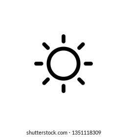 Sun linear icon