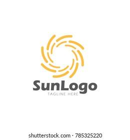 Sun logo abstract