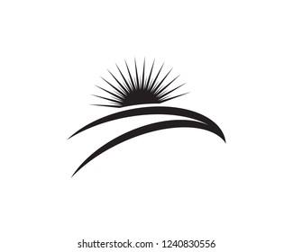 Sun logo black vector