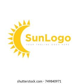 sun logo design template