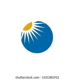 Sun logo design vector illustration template
