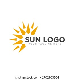 Sun Logo Design Vector Template