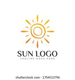 Sun Logo Icon Design Vector