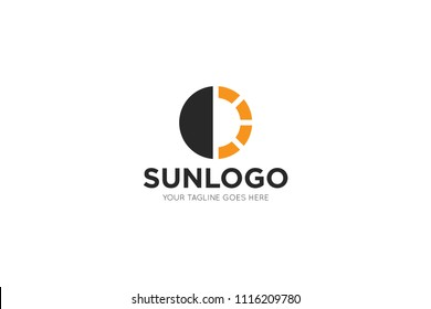 sun logo, icon and symbol