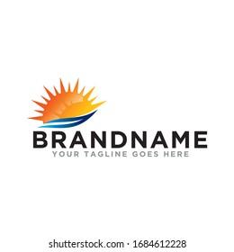 Sun logo icon vector. Sun logo deign template. Simple logo sunshine on trendy logo.