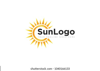 sun logo and sun icon Vector design Template. Vector Illustrator Eps.10