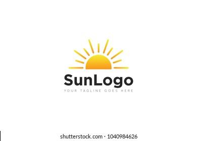 sun logo and sun icon Vector design Template. Vector Illustrator Eps.10