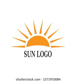 Sun Logo Icon Vector Illustration Design