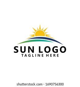 sun logo icon vector isolated