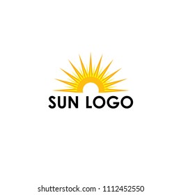 rising above sea sun template logo stock vector royalty free