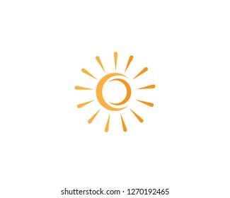 sun logo vector icon template