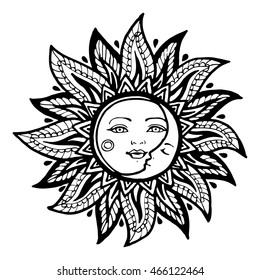 Moon Sun Stars Adult Coloring Pages - Adult Coloring Pages ... | 280x260