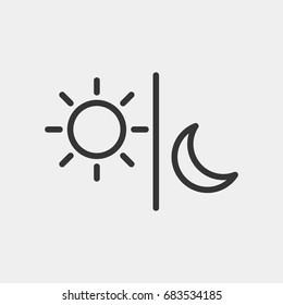 Sun moon icon illustration isolated vector sign symbol